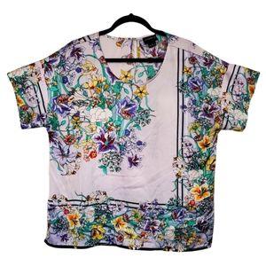 3/$30 💋 Liz Claiborne Satin Floral Print Top